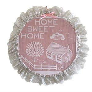 Vintage Home Sweet Home Lace Wall Accent